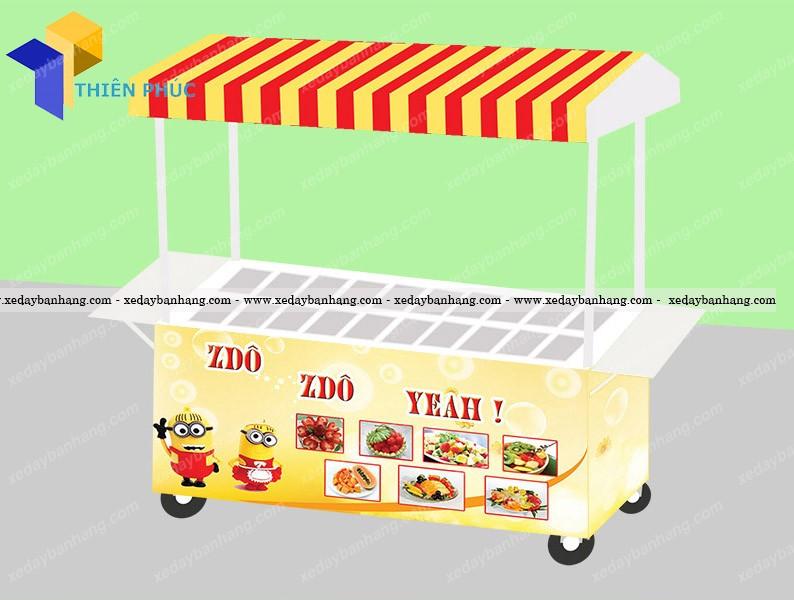 Xưởng chuyên sản xuất xe bán trái cây tô