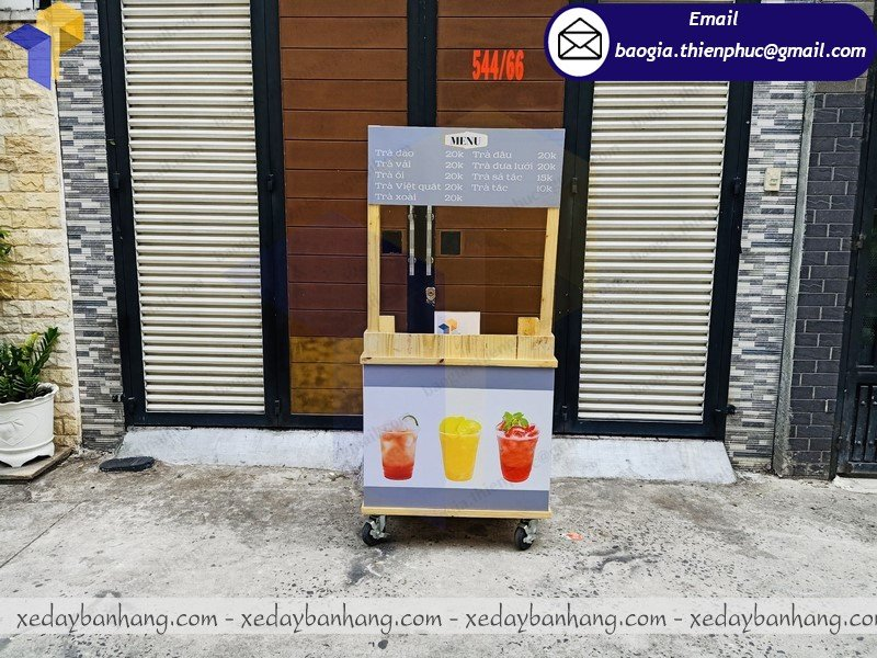 xưởng đóng xe đẩy bán trà trái cây