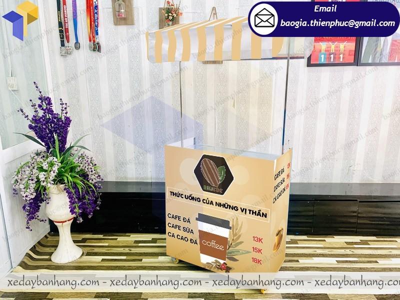booth lắp ráp bán cacao đá giá rẻ
